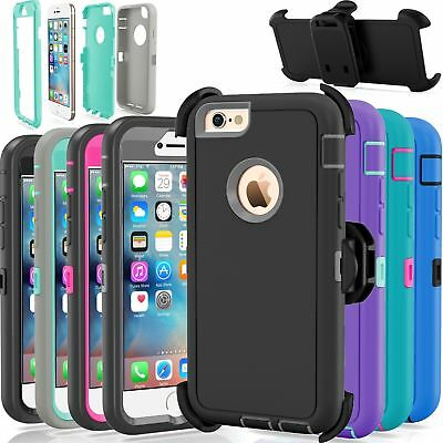 Hard Shell Case With Holster For iPhone 6S & 6 Belt Clip Fits Otterbox Defender