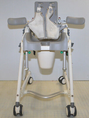 R82 Flamingo Bath Shower Toilet Special Needs Chair w/ Mesh Vest & Side Supports