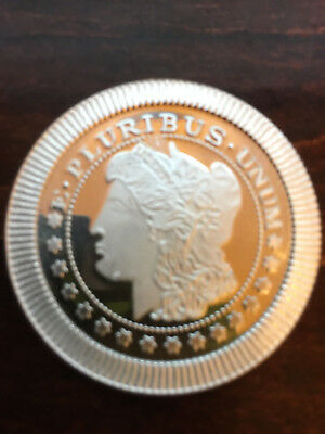 Morgan Dollar Design 1 Troy Oz .999 Fine Silver Rounds Stackable New nm++