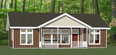 46x30 House -- 3 Bedroom 2 Bath -- PDF Floor Plan -- 1,338 sq ft -- Model 2