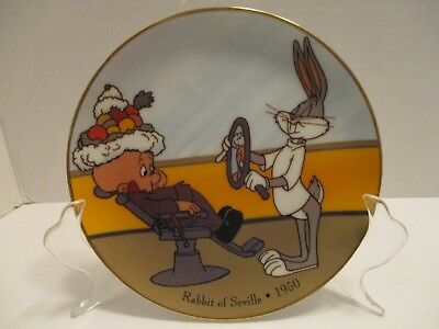 Warner Brothers Rabbit of Seville Plate Bugs Bunny Elmer Looney Tunes 6 In 1992