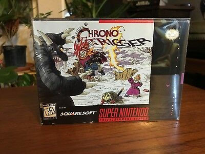 Chrono Trigger (Super Nintendo, 1995), Authentic, Game, Box, Poster, Great Cond!