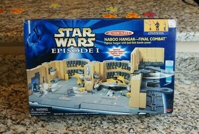 Naboo Hangar Final Combat Playset 1999 STAR WARS Micro Machines Action Fleet MIB