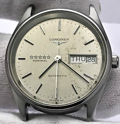 Vintage Longines 5 Star Admiral For Parts/repair! Running! Usa Seller!