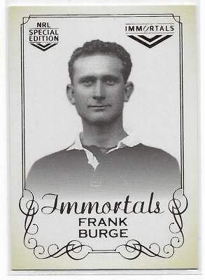 2018 Nrl Glory Hall of Fame Immortals Photo (IMP10) Frank BURGE 060/420