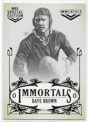 2018 Nrl Glory Hall of Fame Immortals Sketch (IMSK11) Dave BROWN 041/420