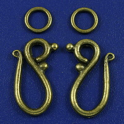 20sets bronze tone hook toggle clasps h3164