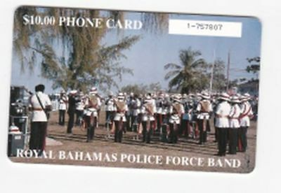 Bahamas used phone card $10 Royal Bahamas Police Force Band