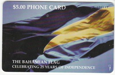 Bahamas used phone card $5 National Flag