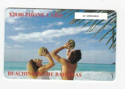 Bahamas used phone card $20 Beaching in the Bahamas
