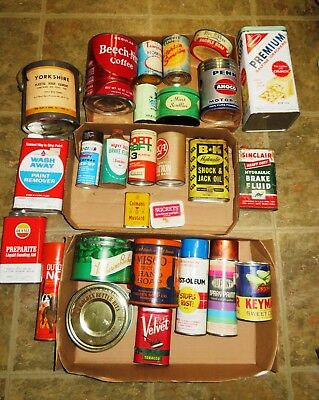 VINTAGE ADVERTISING TIN LOT of 27 Household garage oil Spray Paint