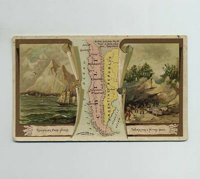1889 Arbuckle Bros Coffee Advertising Trade Card Chile #83 Map Nitre Bed wz1974