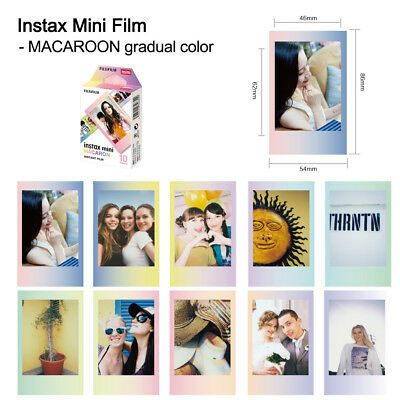 10 Sheets Mini MACAROON KT Film Paper Instant Print for Instax SP-1/SP-2 P9P4