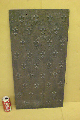 Antique Cast Iron Fireplace Back Plate Heat Reflector Architectural Salvage Old
