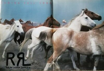 Ralph Lauren Double RL Fall 1993 Double page Magazine Ad Horses