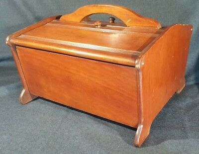 Vintage BUTLER SPECIALTY COMPANY Maple Wooden Sewing Box with Shelf  Style 150
