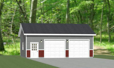30x24 2-Car Garage -- 720 sq ft -- PDF Garage Plan -- 10ft Walls -- Model 11A
