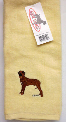 Rhodesian Ridgeback Tea Towel, 16 In. X 24 In. Gr8 Dogs Item 18490