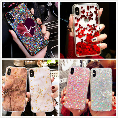 Bling Glitter Sparkle Reflective Case Cute Phone Cover For iPhone Xs Max XR 7 8
