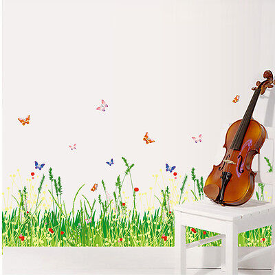 DIY Wall Stickers Grass Type Removable Art Vinyl Decals Murals Home Room Decor