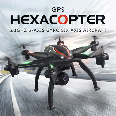 6 Axis 5G WIFI Dual GPS Drone FPV RC Drone 720P HD Wide-angle Adjustable  Camera