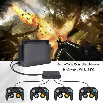 4 Port Gamecube NGC Controller Adapter For Nintendo Wii- U & Switch PC USB US