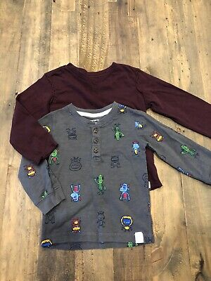 Carters Old Navy Baby Boy 18 Months Long Sleeve Shirt - Lot Of 2