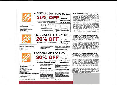 (3)** 20% OFF HOME DEPOT Competitors Coupon to use at Lowe's exp  7/31/19