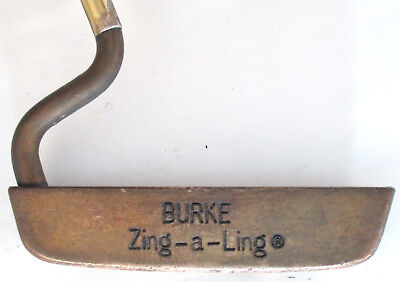 Vintage Burke Zing-A-Ling Rare 1940s Brass Putter Unusual Head Shaft Collectible