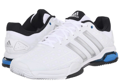 reputable site 22db8 8d5b1 Men s Adidas Barricade Club Tennis White Silver Blue SZ 12 AF6780