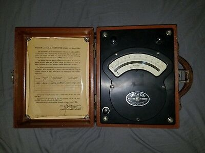 Vintage Antique Weston Model 341 AC Voltmeter 1948 Rare Test Equipment Steampunk