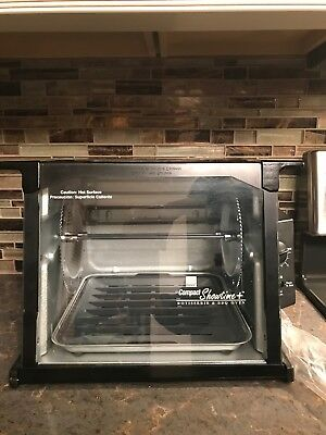 Ronco Compact Showtime Plus Rotisserie & BBQ Oven 3000TB Black Never Used
