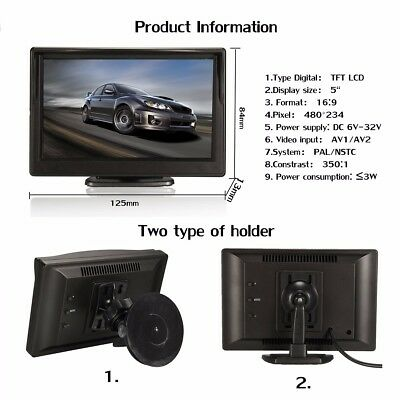 5 Inch TFT LCD HD Car Screen Monitor For Rearview Reverse Backup Parking   HOT