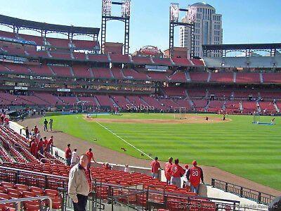 2 CARDINALS vs. Reds 04/27/2019 Sat. Lower Right Field 131 Row 2 ~SATURDAY GAME~