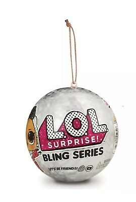 LOL Surprise Doll Holiday BLING Series - GOLD BALL - Sugar Queen OR Splash Queen