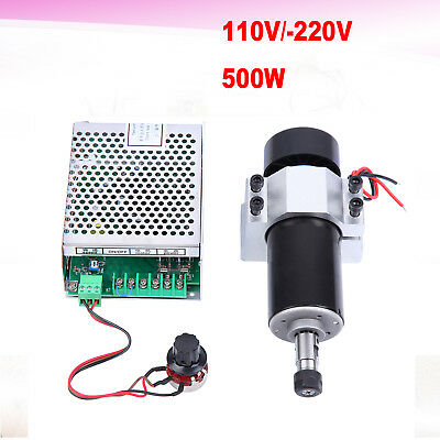500W CNC Spindle Motor Air-Cooling + Speed Governor + 52mm Mount for ER11 Collet