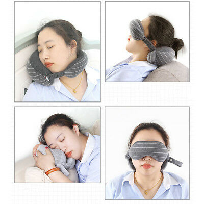 Travel Eye Pillow Soft Foam Particles Neck Portable Flight Car Nap travel Pillow