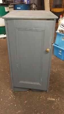 Antique Painted Pine Pot Cupboard Bedside Cabinet