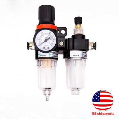 Moisture Water Oil Separator Trap Tools Regulator Gauge Air Compressor Filter