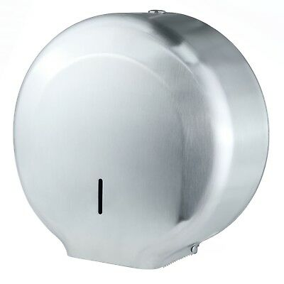 Metal Mini Jumbo Toilet Paper Dispenser Roll Washroom Brushed Stainless Steel
