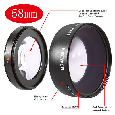 Neewer 58mm HD 0.45x Wide Angle Lens with Macro Lens for Canon EOS 60D 70D 50D