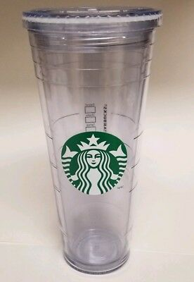 Starbucks Venti Clear Double Wall Acrylic Cold Cup Tumbler 24 oz W/ Top