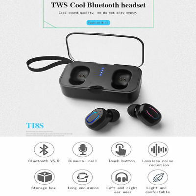 Mini TWS Wireless In-Ear Stereo Bluetooth 5.0 Earphone Earbud Headsets Upgraded