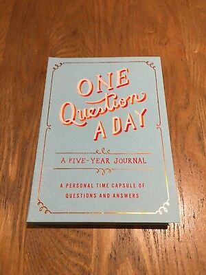 One Question A Day A Five Year Journal A Personal Time Capsule Q&A Book