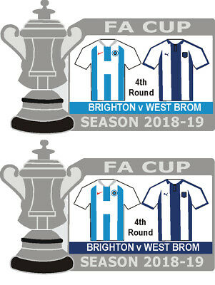 Brighton v West Brom 4th Round Cup Match Badge 2018-19