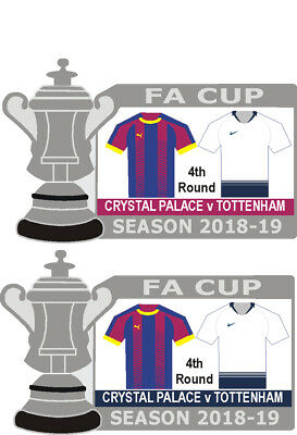 Crystal Palace 4th Round Cup Match Badge 2018-19