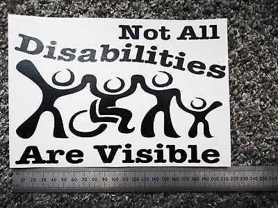 Not all disabilities are visible Vinyl Decal