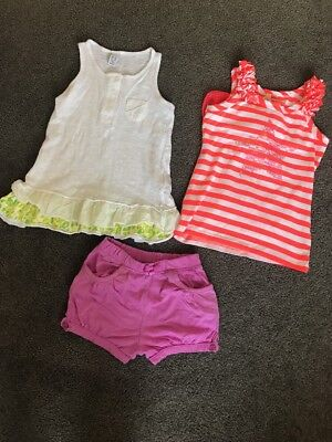Bulk 3 Girls Tops Shorts Zara Kids Size 4 Cotton On Kids Summer Outfit
