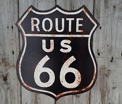 Route 66** Super Blechschild**nostalgie Schild**route 66** 35Cm Gross **
