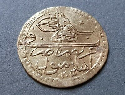 RARE AUTHENTIC GOLD OTTOMAN Turkey COIN 2.34 grams Sultan Selim III 1203 or 1789